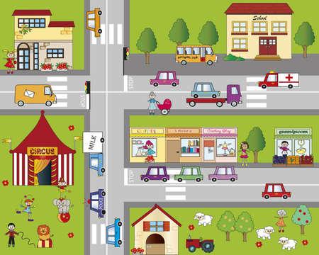 cartoon cityscape photo