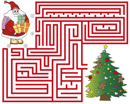 a christmas maze for children game