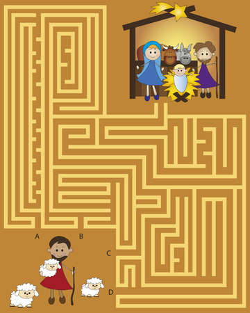 christmas maze for children game photo