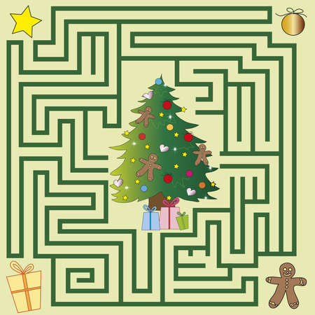 christmas maze for children game