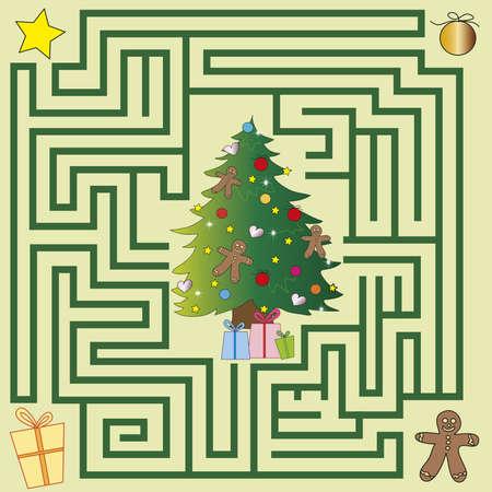 christmas maze for children game
