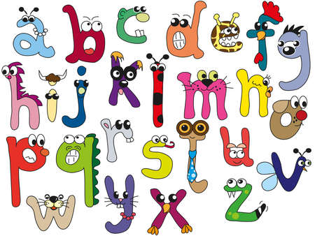 alphabet kids: alphabet in lowercase letters Stock Photo