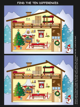 game for children  find ten differences photo