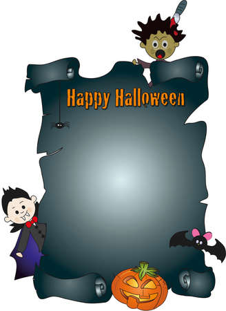 halloween parchment  photo