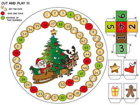 christmas game for children: cut and play photo