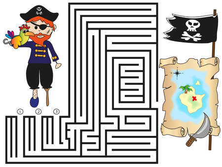 toy chest: maze  Stock Photo