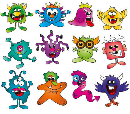 alien clipart: monsters isolated