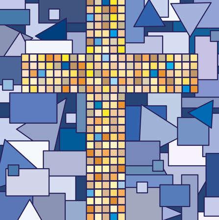 mosaic of religion cross  photo