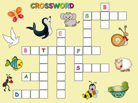 crossword for children photo