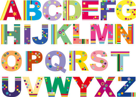 alphabet: funny alphabet Stock Photo