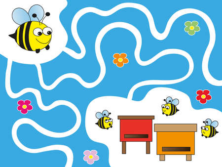 bees: game for children  maze