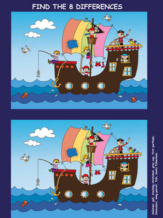 game for children  find the eight differences Stock Photo