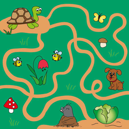 easy game for children  maze photo