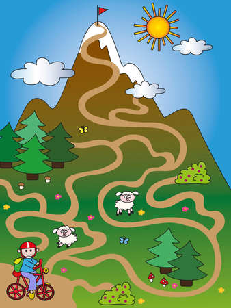 game for children  find the right way Imagens