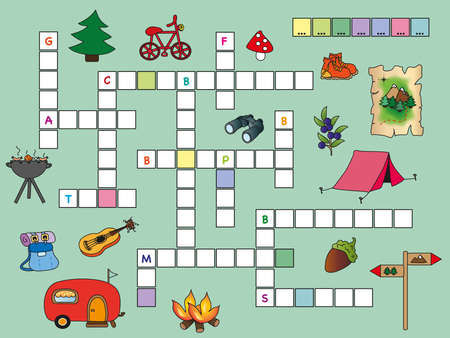 game for children  crossword  photo