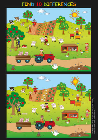 game for children  find the ten differences photo