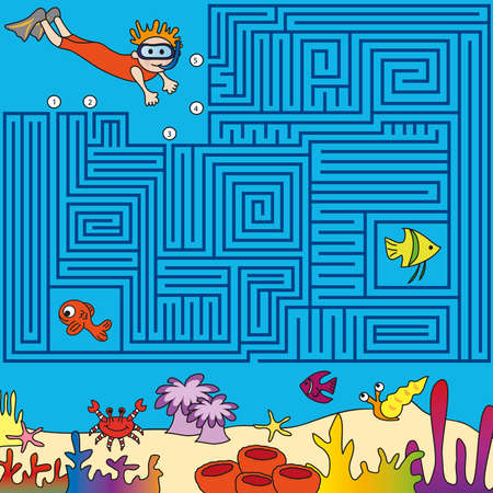 barracuda: Game for children  find the right way
