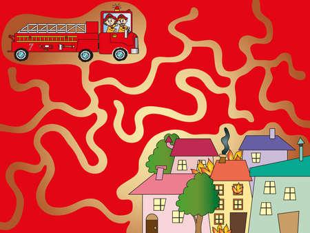 game for children  maze photo