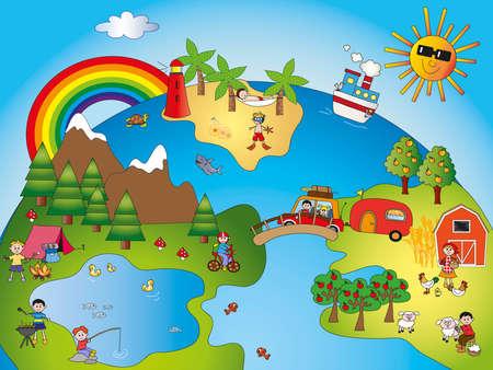 tent city: fantasy world with children
