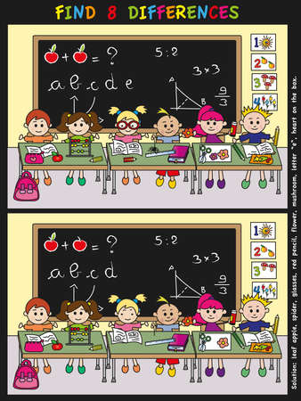 game for children  find 8 differences Stock Photo