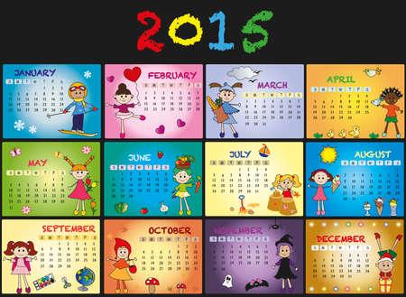 A 2015 annual calendar template photo