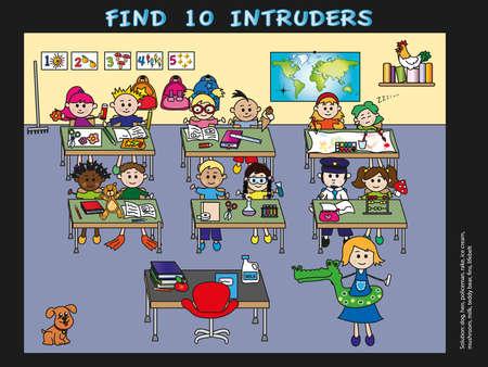 game for children: find 10 intruders photo