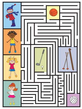 easy game for children: maze photo