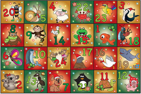 number of animals: christmas advent calendar