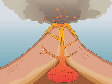 dike: volcanic eruption Stock Photo