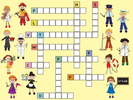 priest's ritual robes: illustration of easy crossword for children