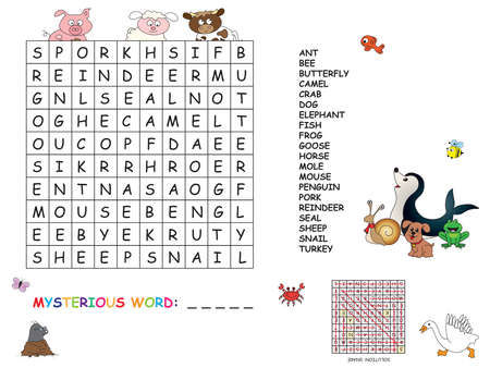 game for children: crossword photo