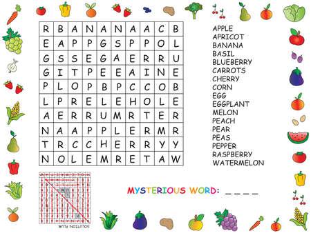 finding: game for children: crossword