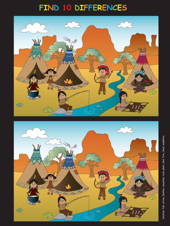 peace pipe: Game for children: find ten differences