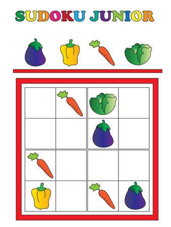 junior: game for children: sudoku junior