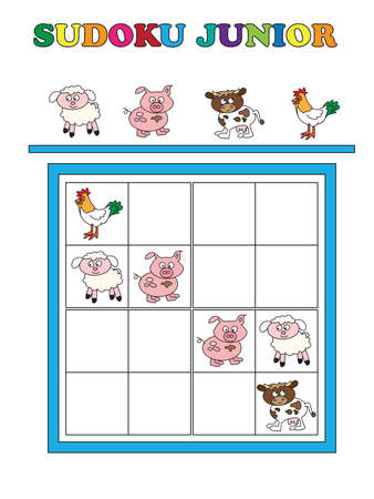junior: Game for children: sudoku junior.
