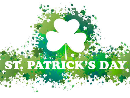 three leafed clover: st. patricks day