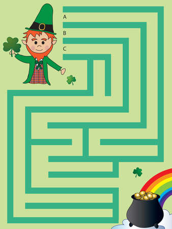 three leafed clover: Game for children: maze