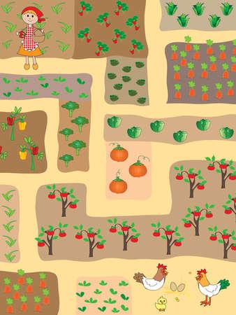 child s: easy game for children: maze Stock Photo