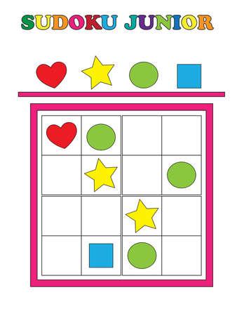 junior: Game for children: sudoku junior.
