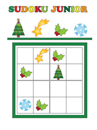 junior: game for children for christmas: sudoku junior