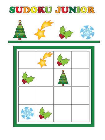 junior: game for children for christmas: sudoku junior