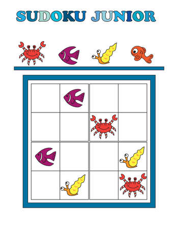 juniors: game for children: sudoku junior