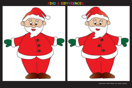to find: Christmas game: find six differences