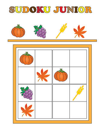 junior: game for thanksgiving: Sudoku junior Stock Photo