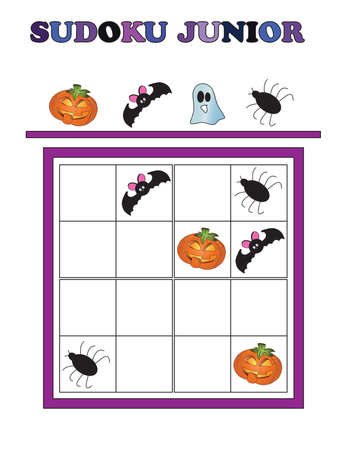 junior: game for halloween: Sudoku junior