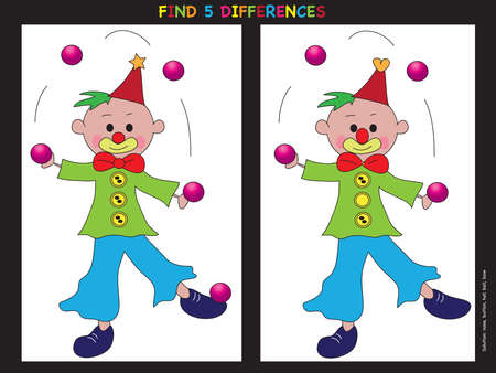 child smile: game for children: find five differences