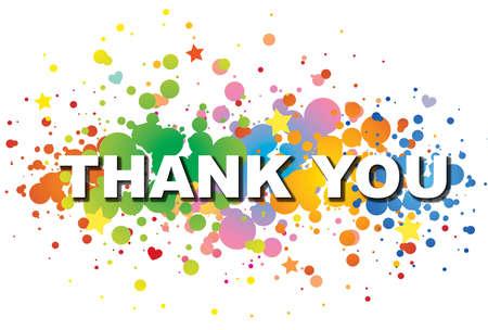 agradecimiento: Gracias palabra de colores de fondo