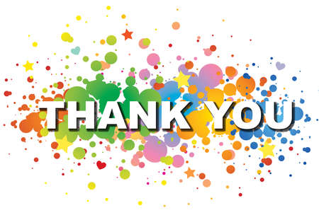 gratefulness: Thank you word colorful background Stock Photo