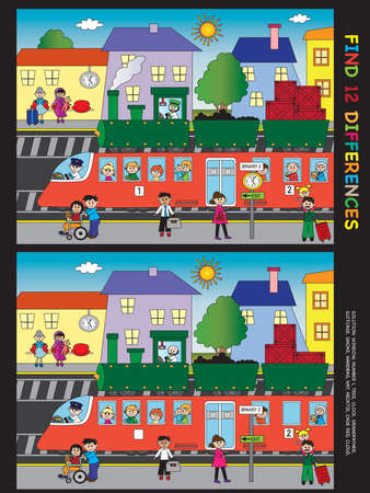differences: game for children: find twelve differences