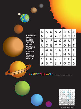 Game for children :  crossword with system solar Imagens